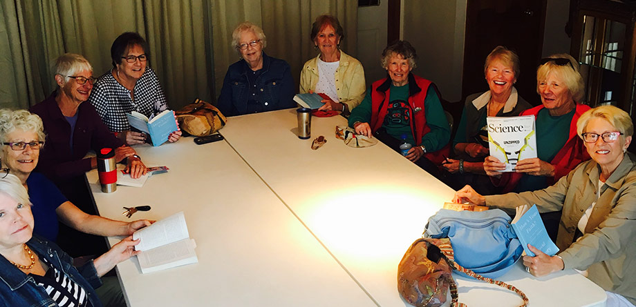 Our Women's book study group meeting